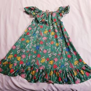 Zara Green floral tunic size 9/10